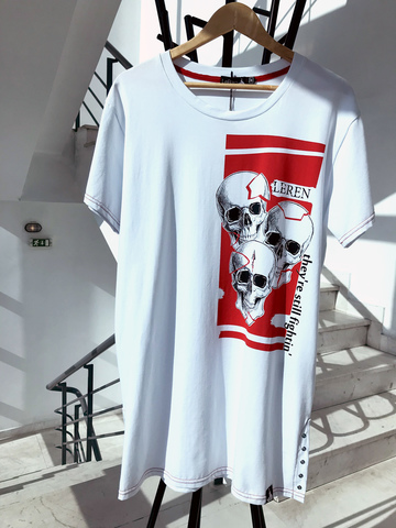 Футболка LeRen Fight Skull White