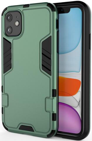 Чехол противоударный для iPhone 11 зеленого цвета от Caseport