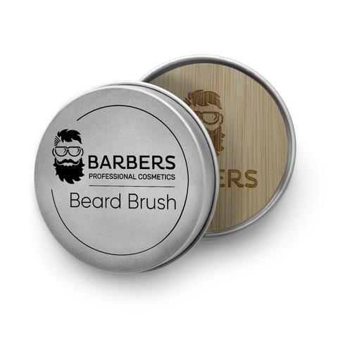 Щётка для бороды Barbers Round Beard Brush (3)
