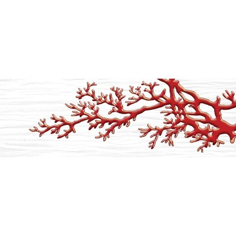 Декор Коралл белый 04-01-1-17-03-00-901-7  600х200х9