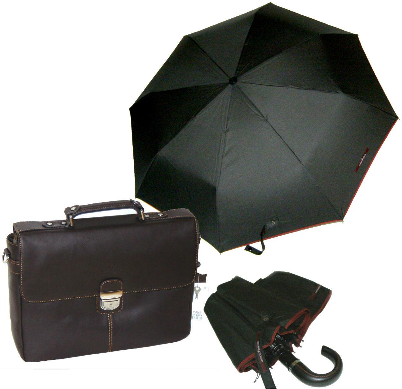 Комплект #4 Hexagona портфель Felin(Франция) и зонт Solid piping Maison Perletti (Италия)