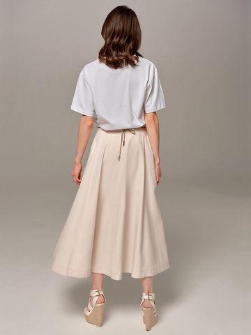 Женская юбка песочного цвета Eleventy - фото 4