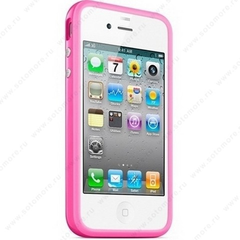 Бампер Apple для Apple iPhone 4 Bumper - Pink