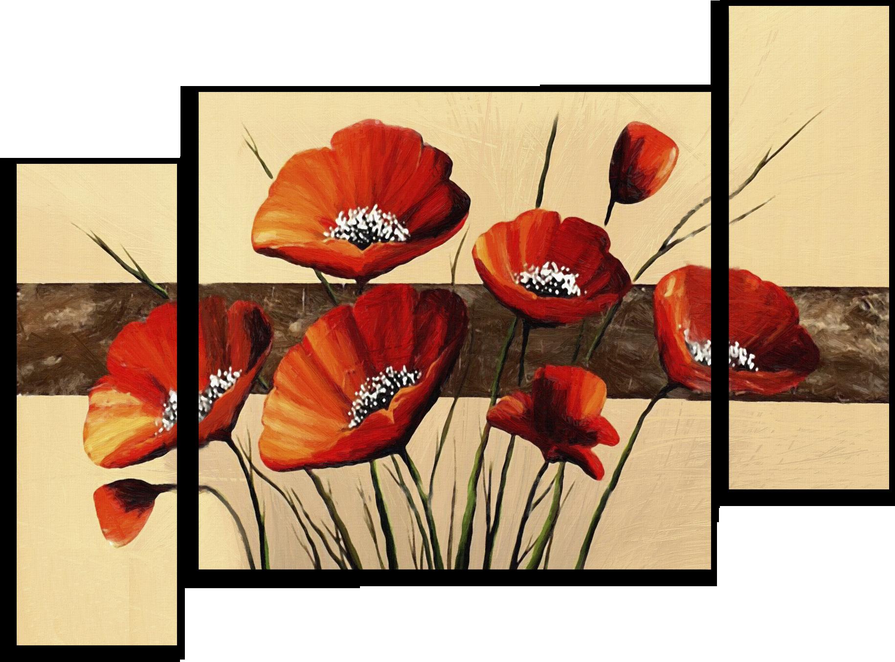 "Цветы Модульная картина ""Маки по фен-шуй"" М476.png"