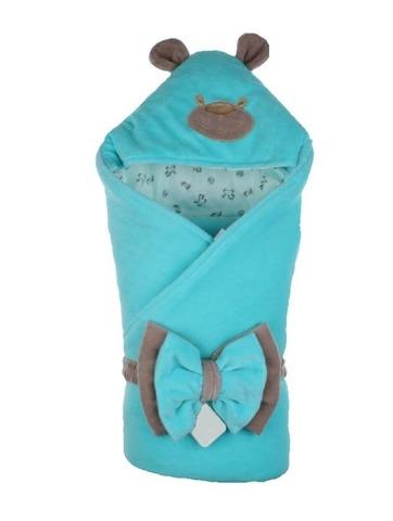 Конверт-одеяло на выписку Little Bear бирюза