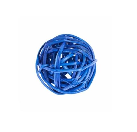 Плетеные шары из ротанга (набор:12 шт., d3см, цвет: синий)