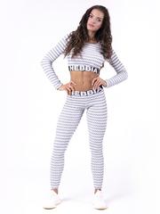 Женские лосины Nebbia boho style leggings 3D pattern 658 grey