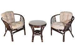 Комплект мебели из ротанга Bahama комплект 2 кресла + столик (ротанг №3, ротанг №6)