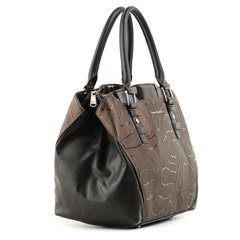 5094 FD кожа /макки/лак т.коричневый (сумка женская)