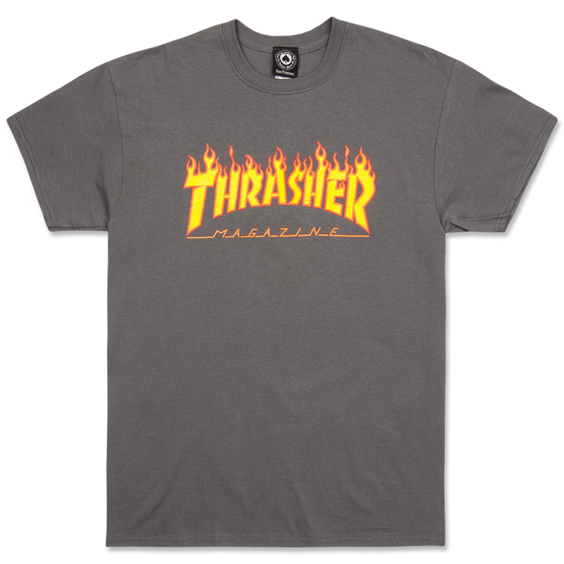Футболка THRASHER Flame Charcoal