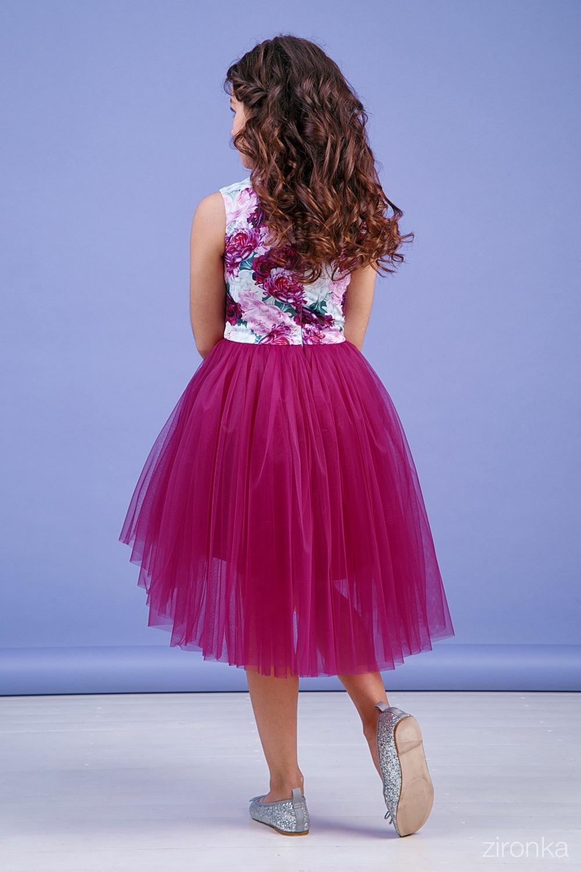 Платье бордовое для девочки 38-9004-1