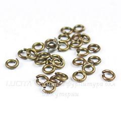 Комплект колечек одинарных 3х0,7 мм (цвет - античная бронза), 5 гр (примерно 200 штук)