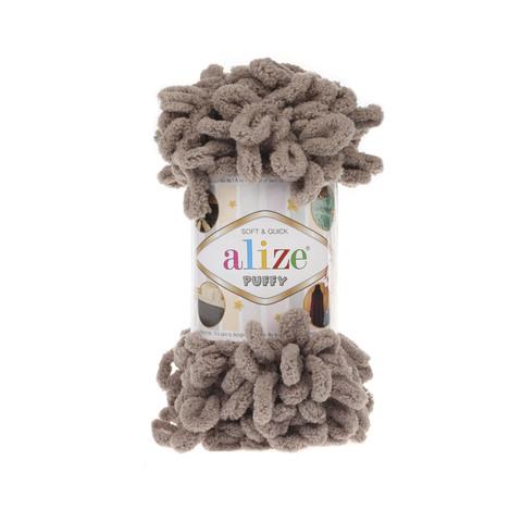 Купить Пряжа Alize Puffy Код цвета 530 Кофе с молоком | Интернет-магазин пряжи «Пряха»
