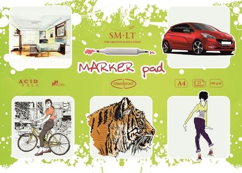 Альбом SM-LT Marker, A4, 25 л., склейка