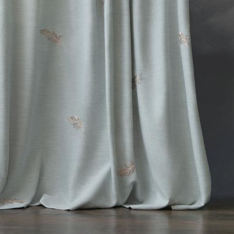 Комплект штор с вышивкой Пиаццо голубой