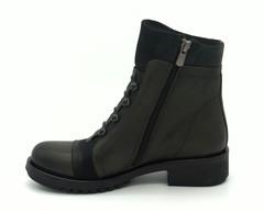 Комбинированные кожаные ботинки на молнии