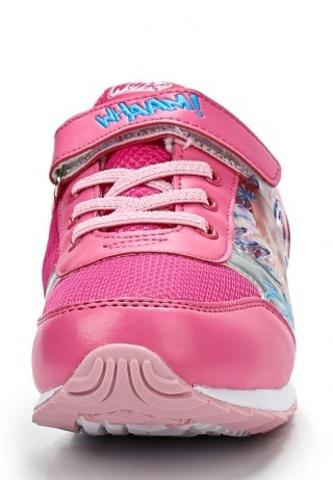 Кроссовки Винкс (Winx) на липучке и шнурках для девочек, цвет розовый, фея Блум. Изображение 5 из 8.