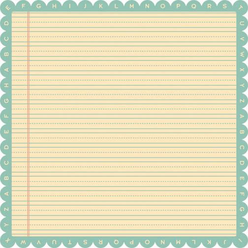 Лист односторонней бумаги с фигурным краем Ruler из коллекции