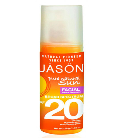 Натуральное солнцезащитное средство для лица с SPF 20, Jason