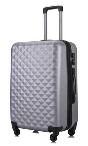 a57eec99d945 Чемодан с расширением L'case Phatthaya-24 Серебро (M+) пластиковый ...
