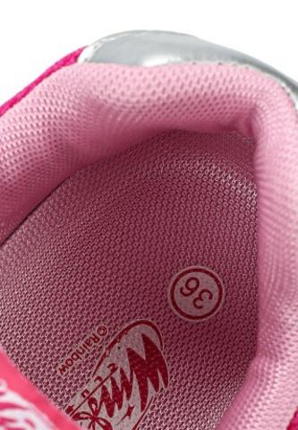 Кроссовки Винкс (Winx) на липучке и шнурках для девочек, цвет розовый, фея Блум. Изображение 8 из 8.