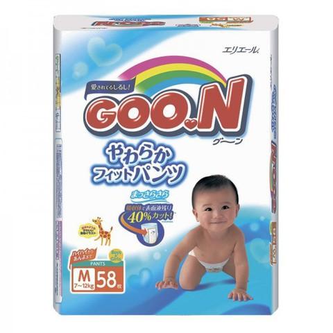 """Трусики-подгузники """"Goon"""" японские размер M (вес 7-12кг) 58шт"""