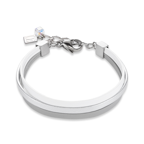 Браслет Coeur de Lion 0121/30-1214 цвет белый, серый