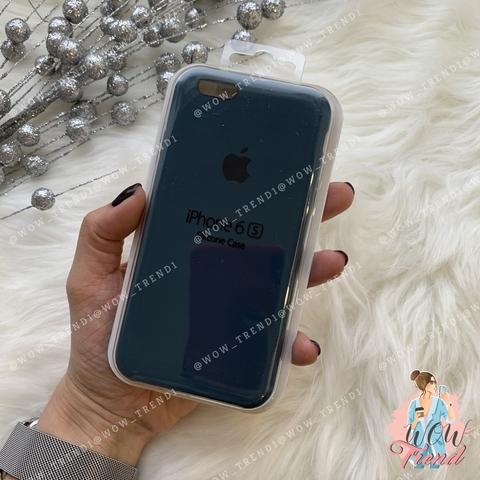 Чехол iPhone 6/6s Silicone Case /cosmos blue/ космос 1:1