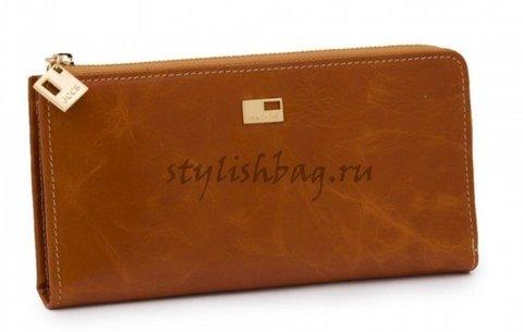 Женский кошелек на молнии JCCS jc 1025 рыжего цвета