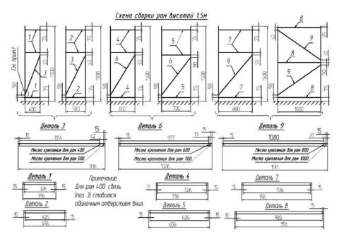 Усиленный металлический стеллаж (глубина 700, высота 1500 мм)