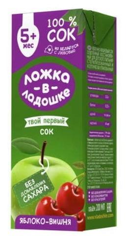 Сок Яблоко-вишня 200мл. Ложка в ладошке