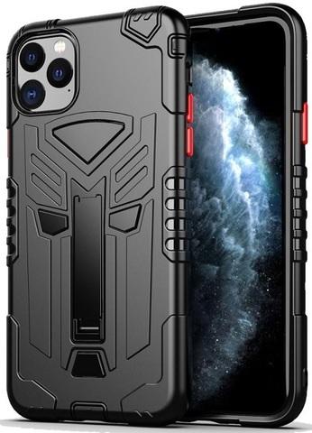 Чехол iPhone 11 Pro серии Dual X с магнитом и складной подставкой, черного цвета, Caseport
