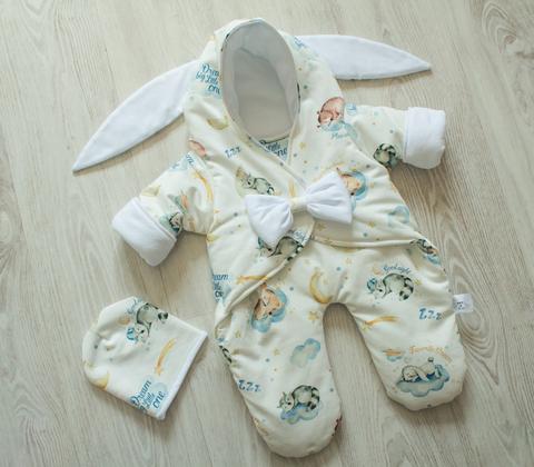 Комбинезон для новорожденного + шапочка