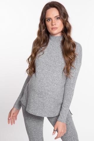Джемпер для беременных 09075 светло-серый