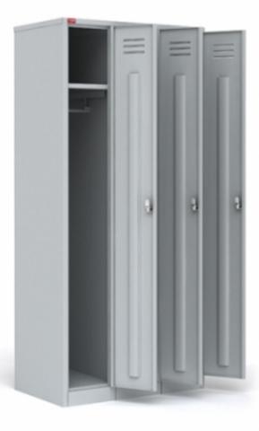 ШРМ - 33 Трехсекционный шкаф для одежды (1860х900х500)