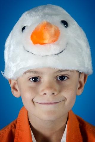 Новогодняя шапочка Снеговика
