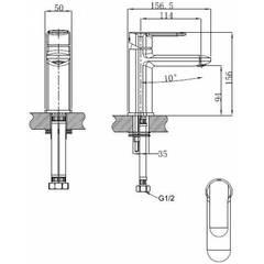 Смеситель KAISER Estilo 62011 для раковины схема