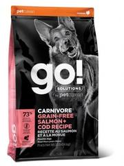 Корм  беззерновой для собак всех возрастов, GO! Natural holistic, GO! CARNIVORE GF Salmon + Cod Recipe DF, c лососем и треской