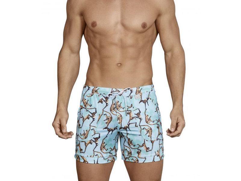 Мужские шорты голубые с рисунком Clever Alsina Swimsuit Trunk 070410