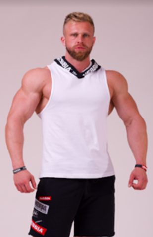 Мужская майка Nebbia Hooded Singlet 713 white