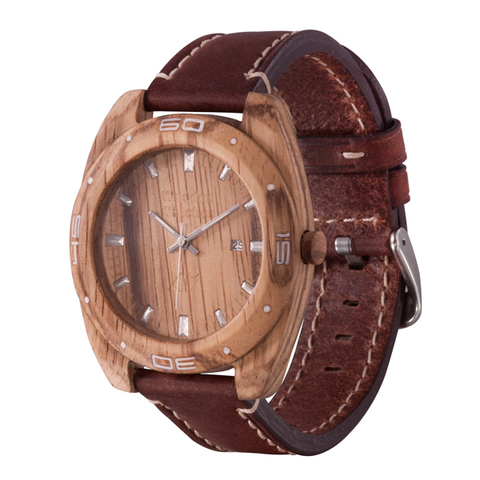 Часы из дерева AA Wooden Watches Спорт Зебрано