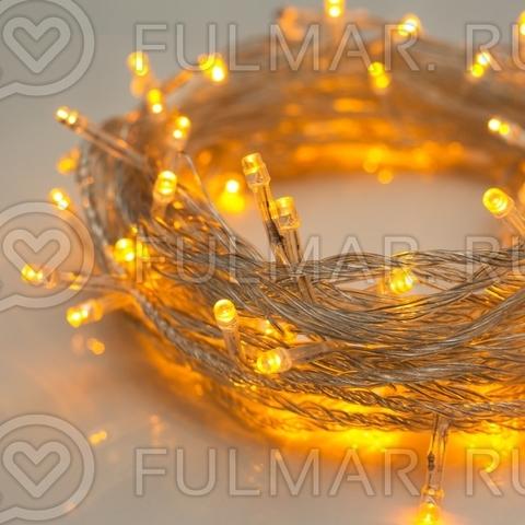Гирлянда новогодняя Сияние, 8 режимов, 10 метров, свечение жёлтое