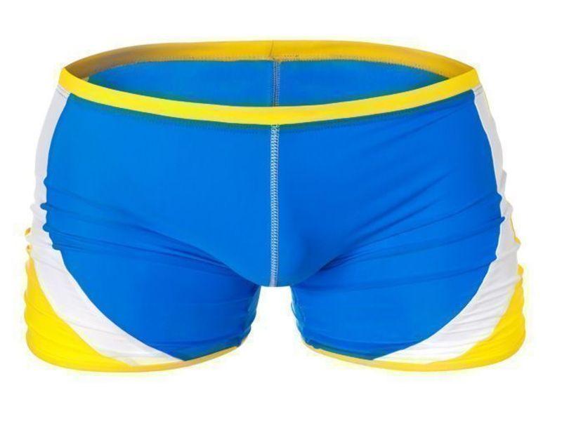 Мужские плавки синие с желтыми полосами Aussiebum