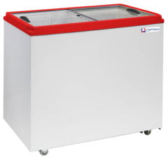 Ларь морозильный  OPTIMA 250С PRIME ( с прямым стеклом ) (757х632х794h, кВт.ч./сут1,8)