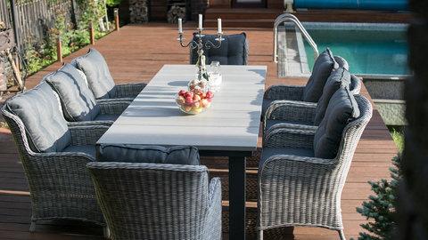 Обеденный стол «Парклэнд», цвет серый