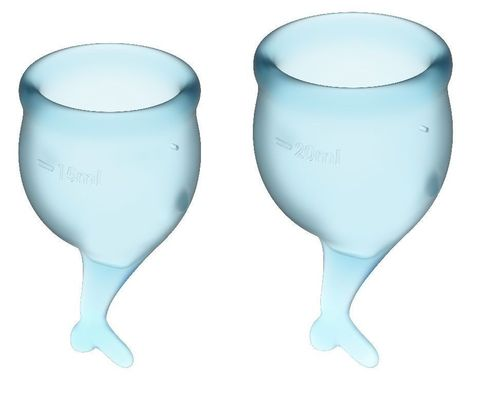 Набор голубых менструальных чаш Feel secure Menstrual Cup