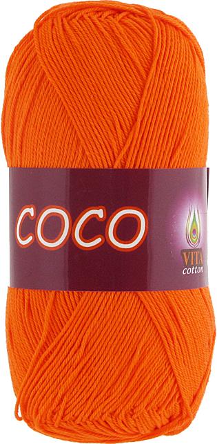 Пряжа Vita Coco 4305 морковный