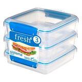 Набор контейнеров для сэндвичей Fresh (3 шт.) 450 мл, артикул 921643, производитель - Sistema