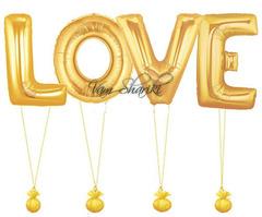 "Фигура - слово  ""LOVE"" золото"
