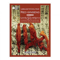 Lebelage Natural Mask Red Ginseng - Маска тканевая с корнем красного женьшеня